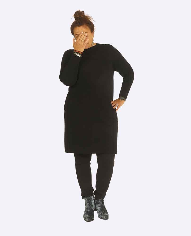 jurk tricot m zakken Frapp