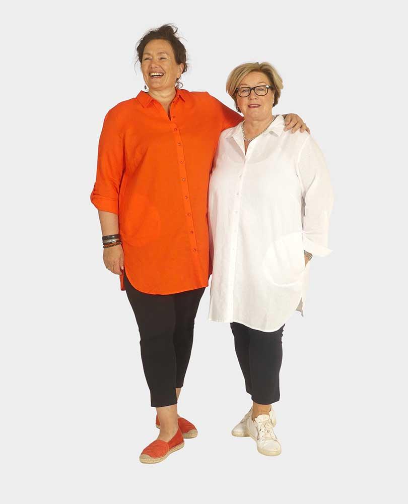 blouse linnen lang zakken Frapp