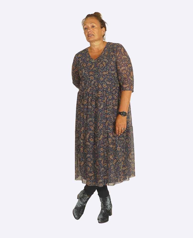 jurk paisleyprint gevoerd Ciso