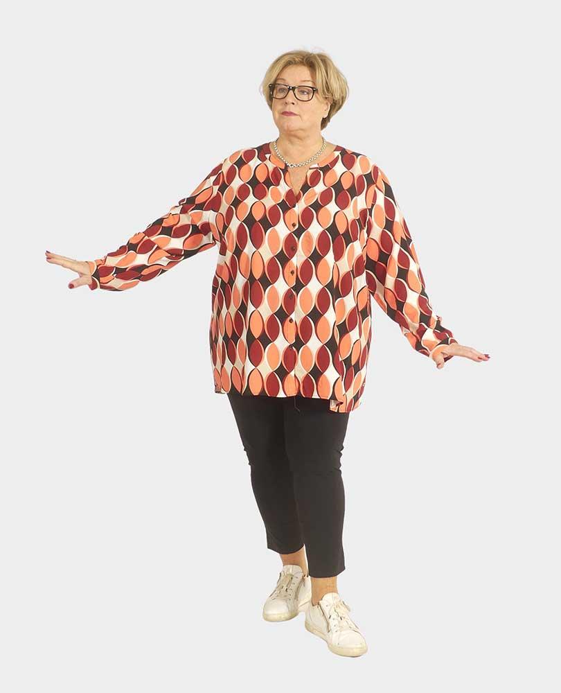 blouse lm retroprint Frapp
