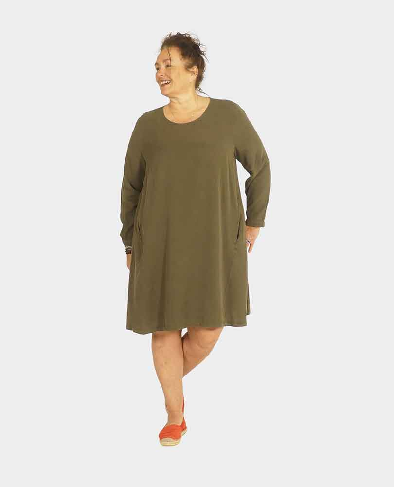 jurk a-lijn zakken Frapp