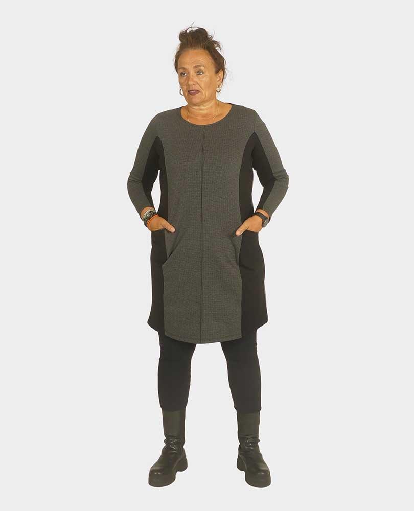 jurk 2 stofsoorten No Secret