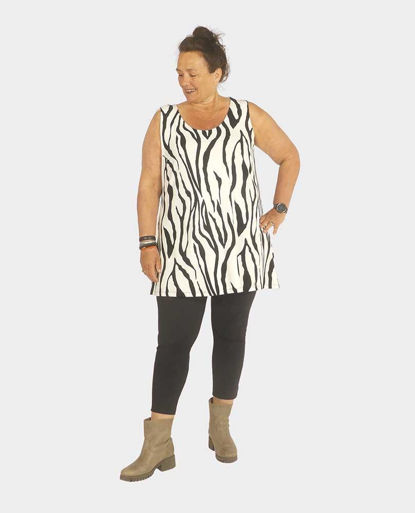 top zebraprint Twister