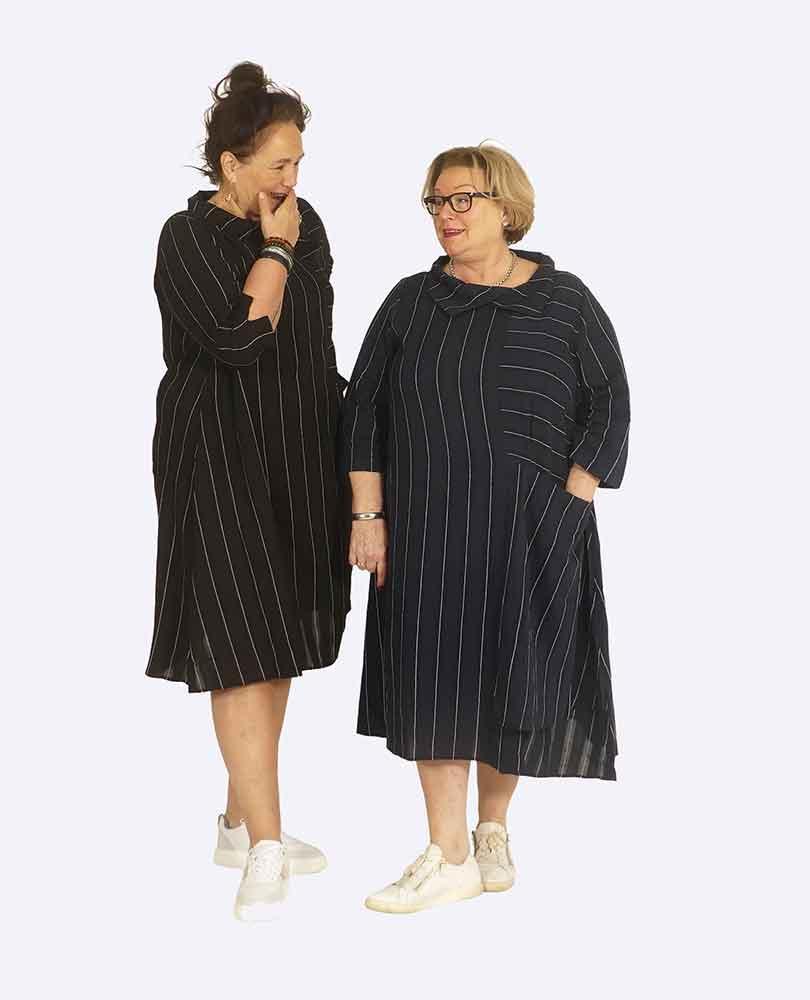 jurk streep met zak Vetono