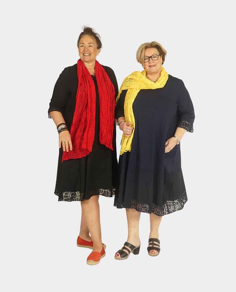 jurk a-lijn tricot m ausbrenner Vetono
