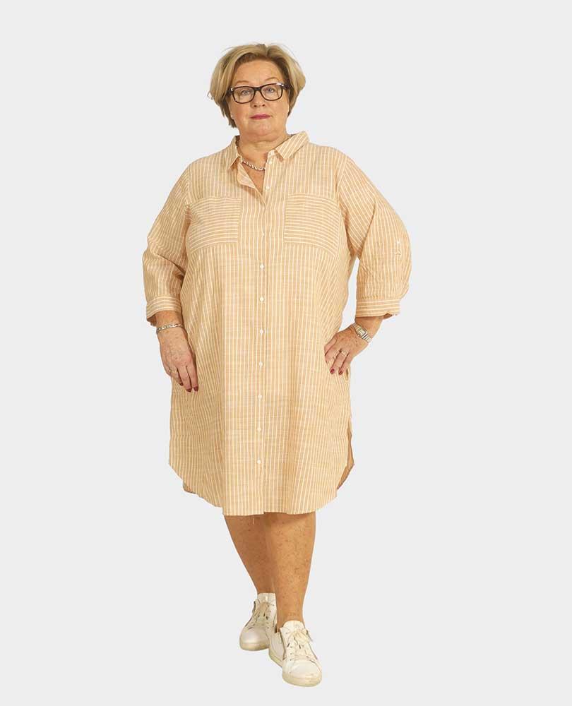 blouse / jurk streep Due