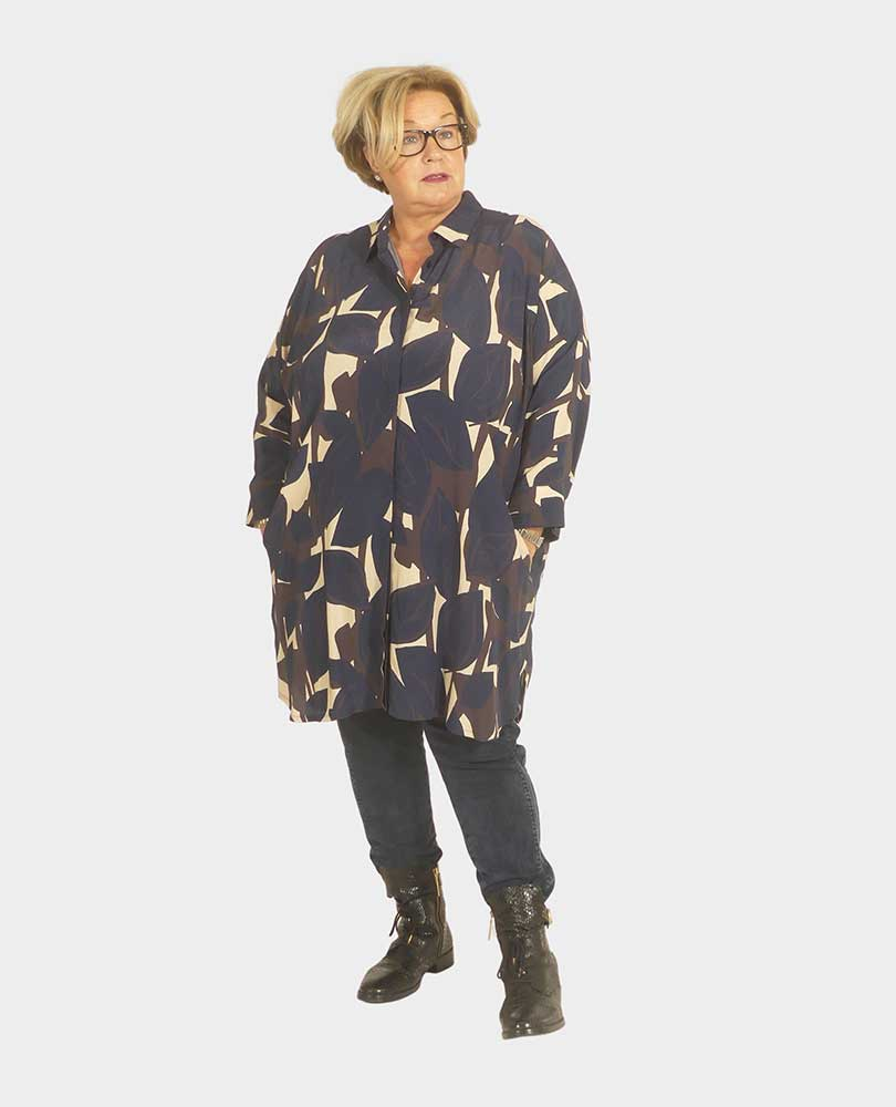 blouse / tuniek print zakken Q`neel