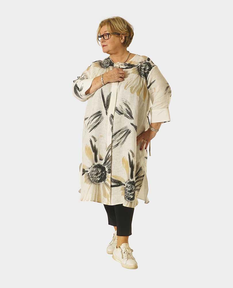 blouse/jurk linnen print Q`neel