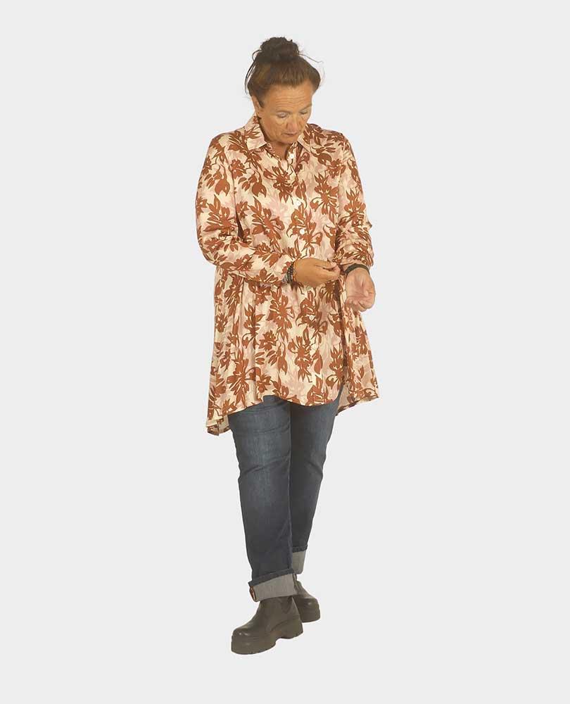 blouse print a-lijn Q`neel