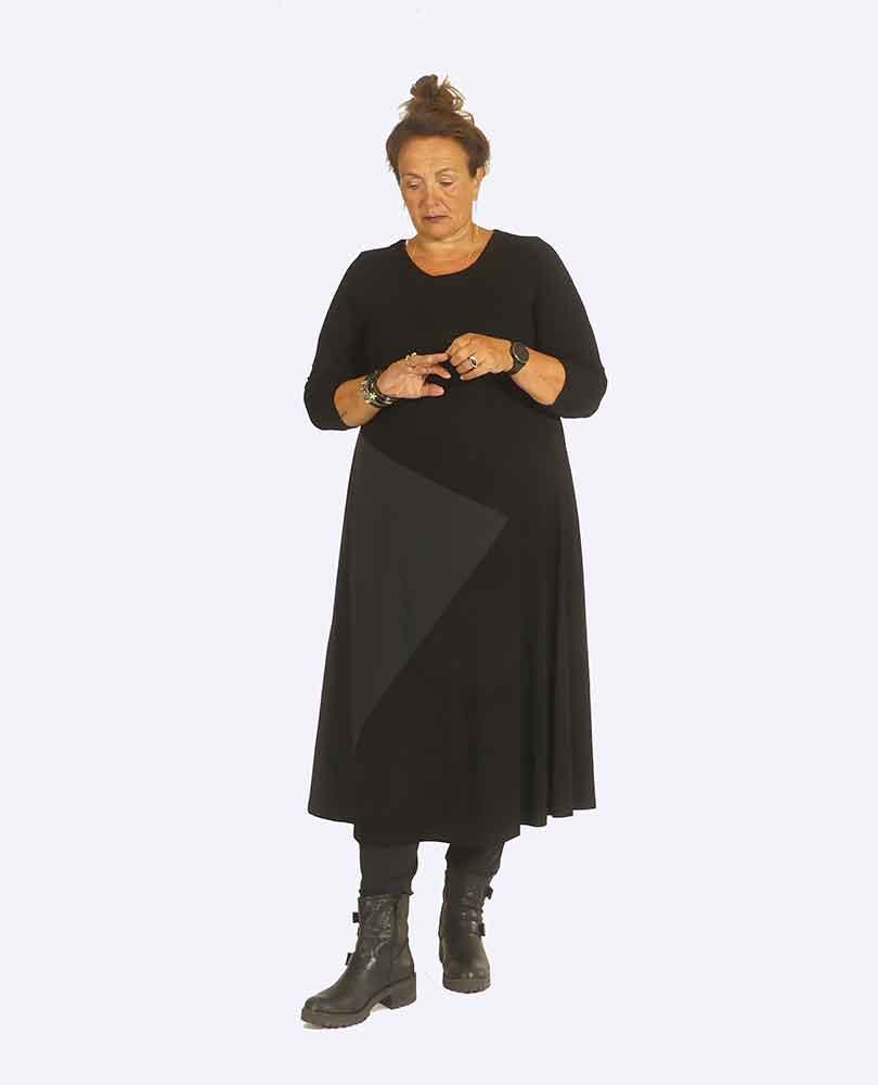 jurk 2 stofsoorten Q'neel