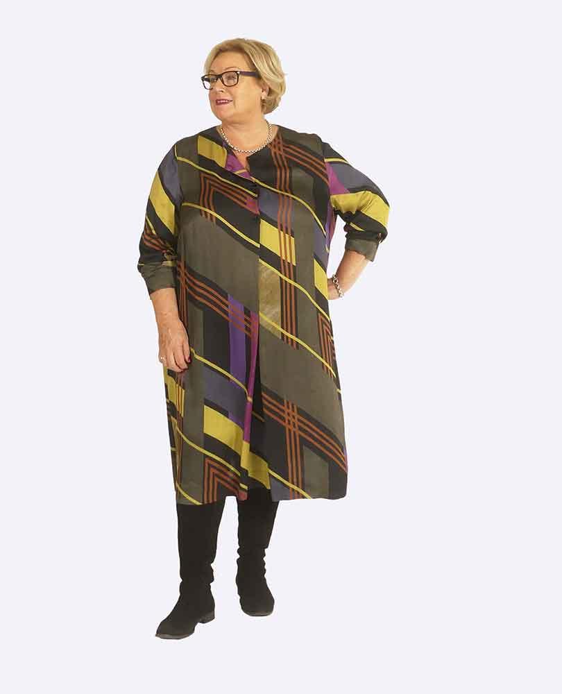 jurk 3 knoop print Q'neel
