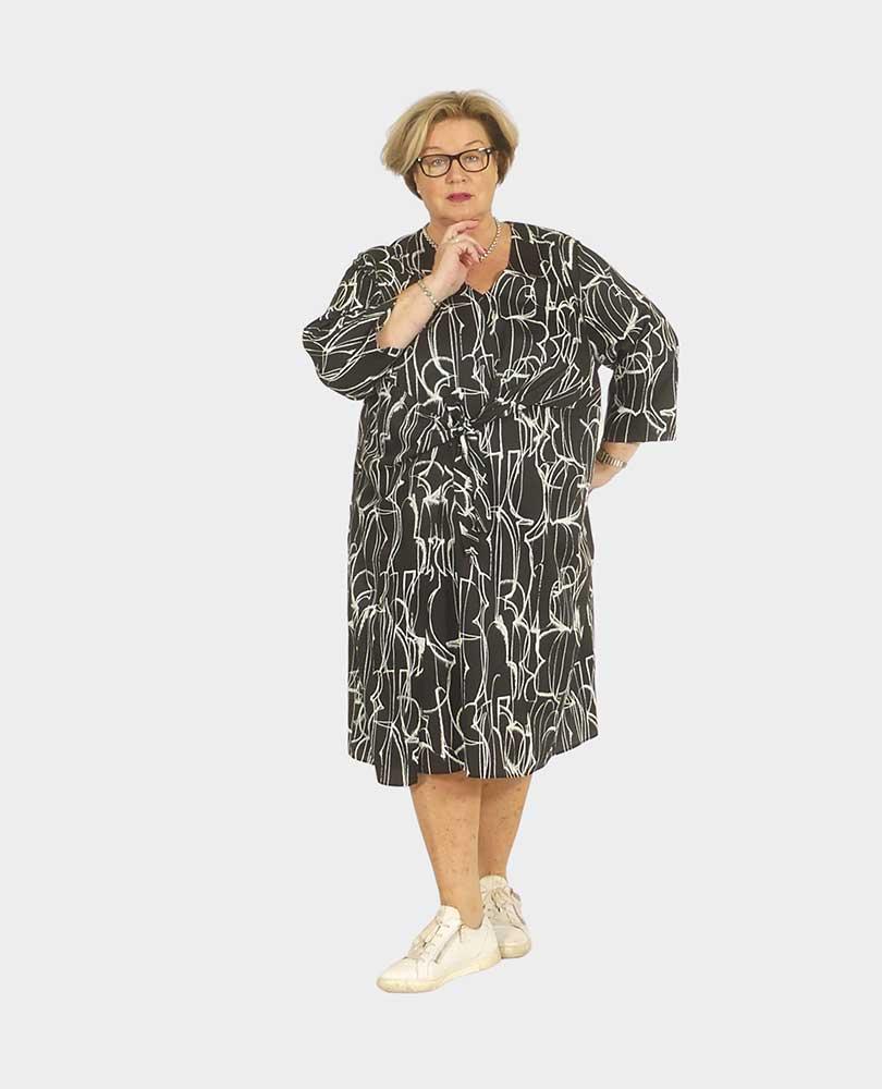 jurk overslag print Q'neel