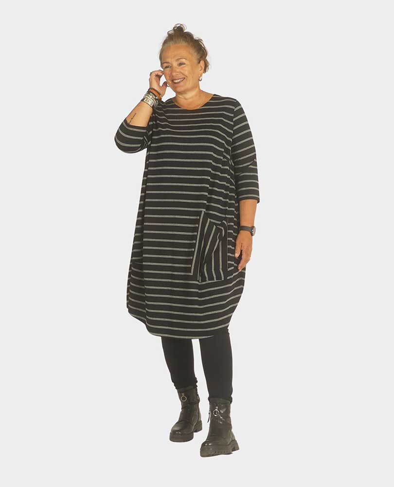 jurk streep grote zak Q`neel