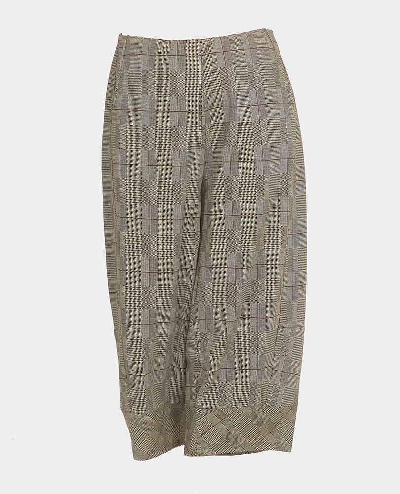 pantalon wijd ruit Vetono