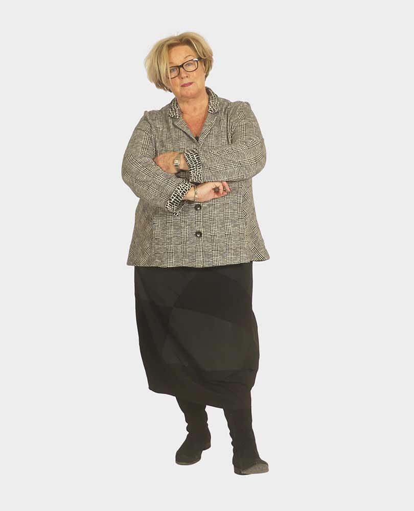 blazer tricot ruit Vetono