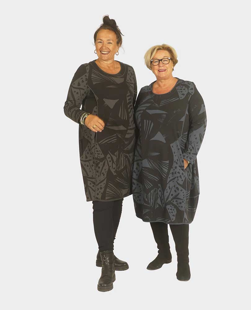 jurk sweat print Vetono