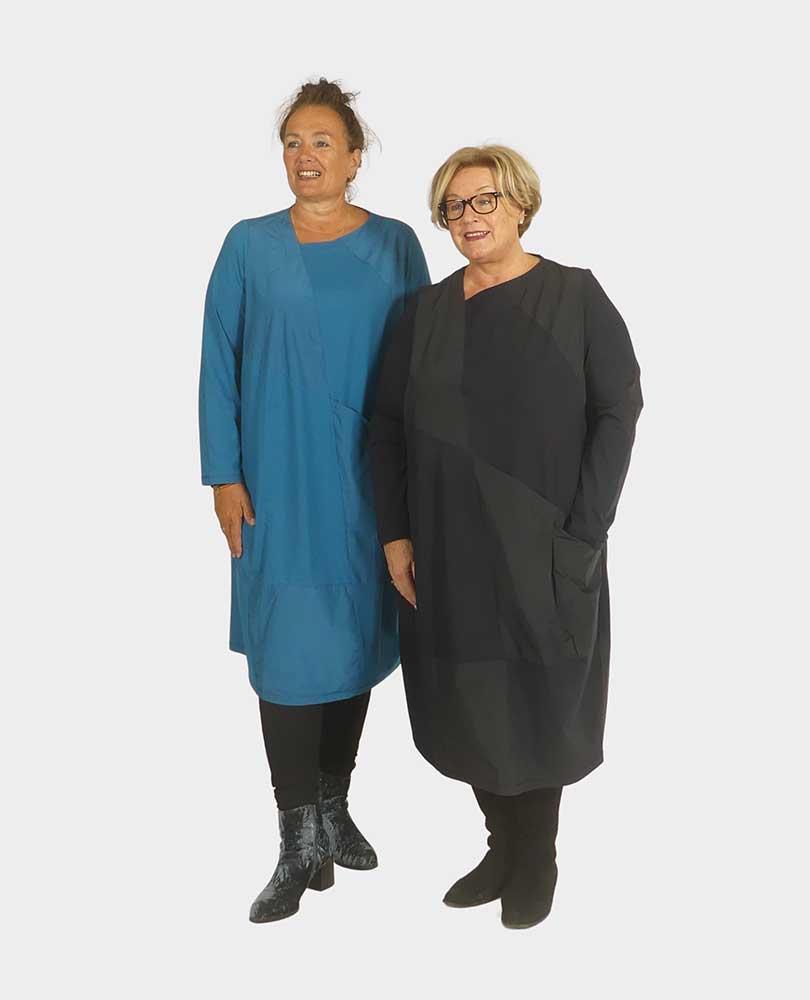 jurk tricot vlakken Vetono