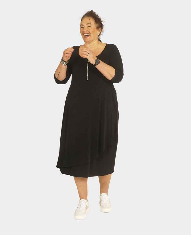 jurk overslag met rits Yoek