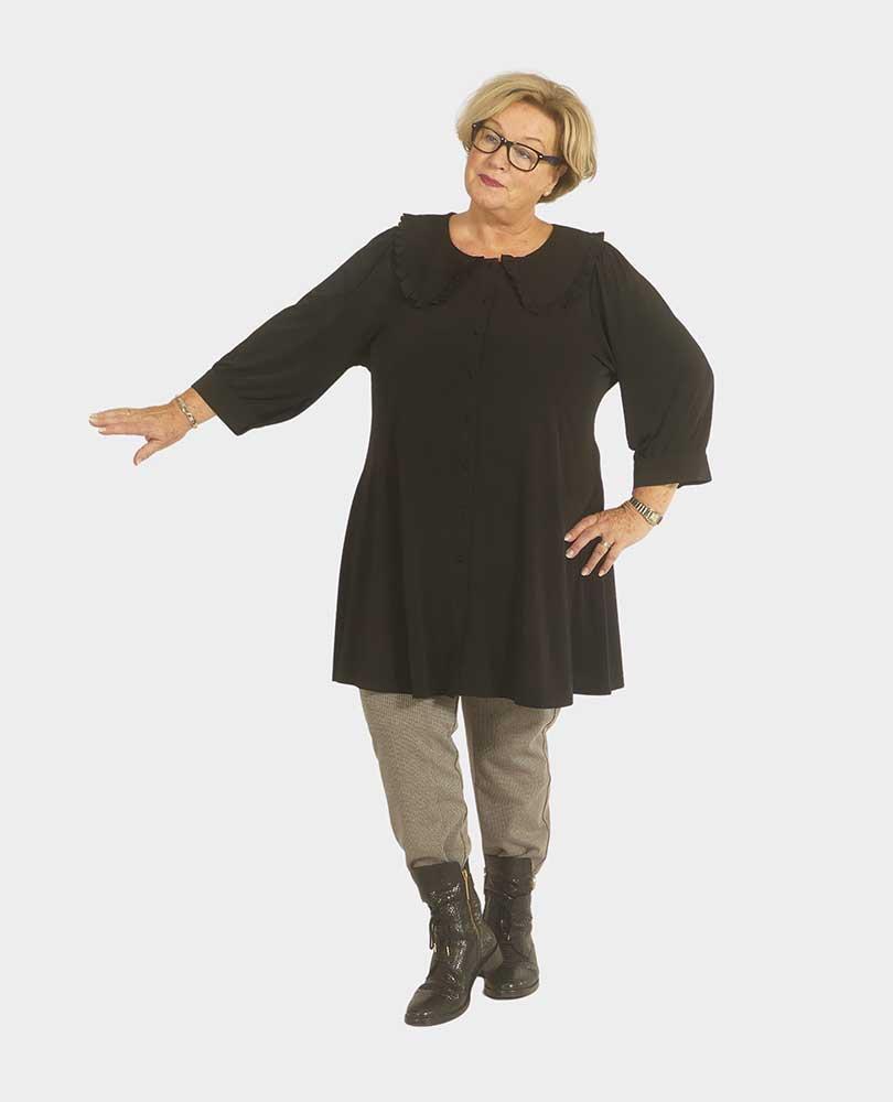 blouse / tuniek grote kraag Yoek