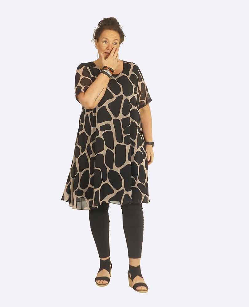 jurk voile m top print Yoek Black Label