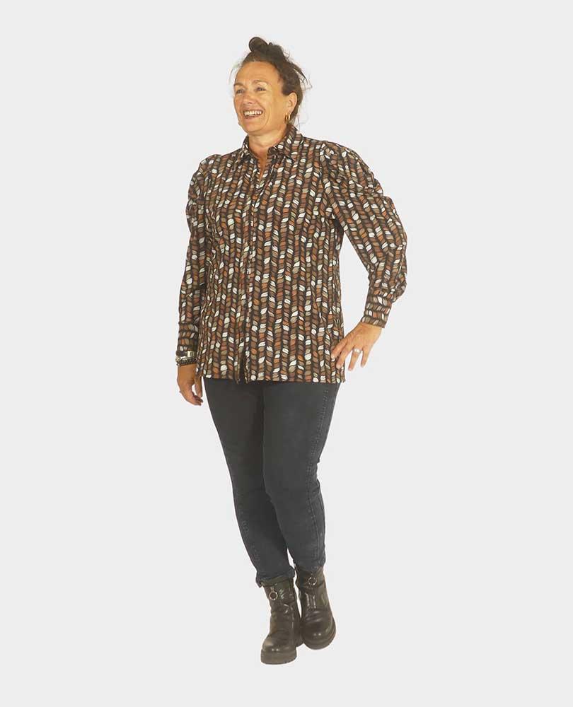 blouse travel print pofmouw Exxcellent