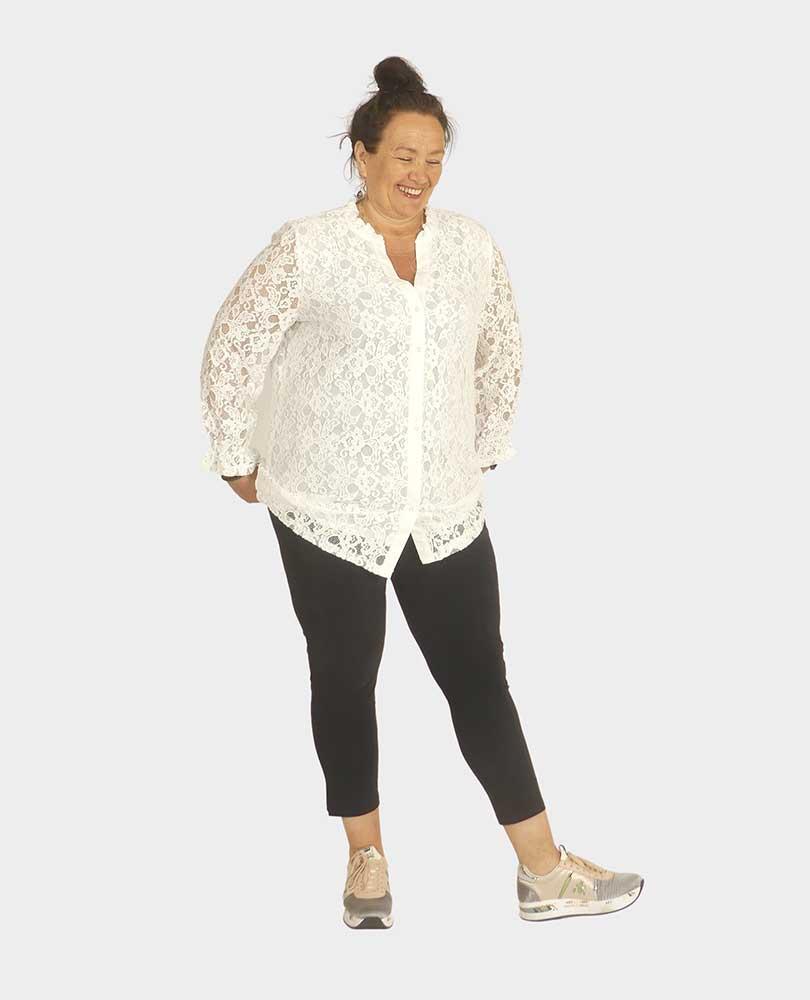 blouse kant gevoerd Exxcellent