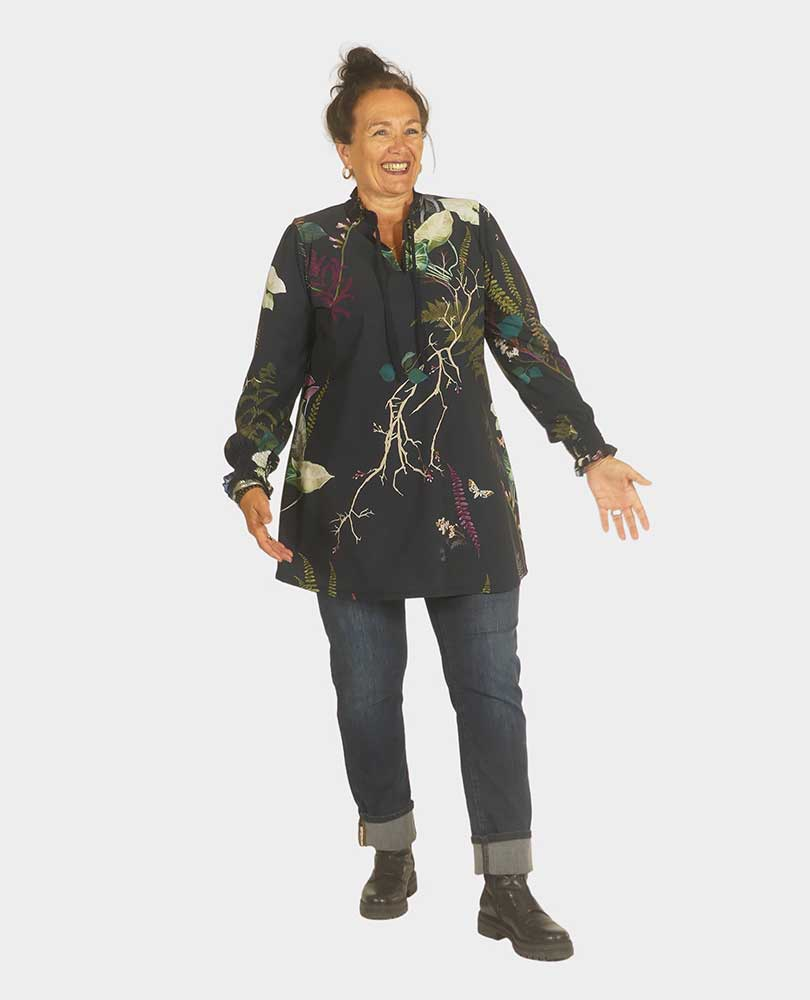shirt travel smockprint Plus Basics