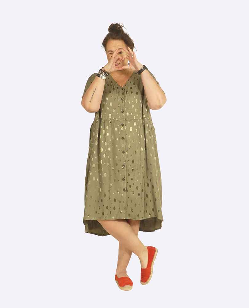 jurk doorknoop bolletjes Pont Neuf