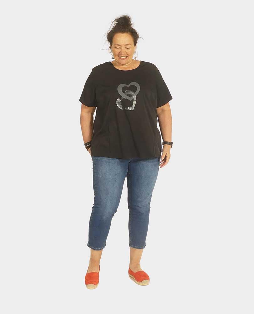 t-shirt print 'hart' Studio