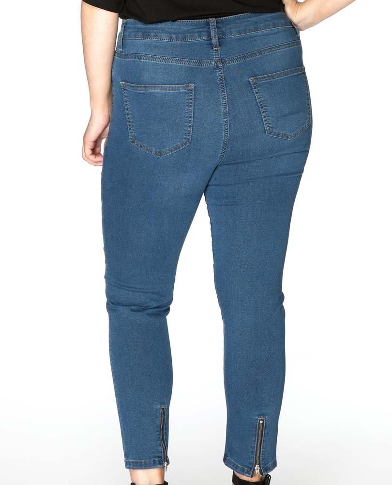 7/8 jeans superstretch m rits Yoek